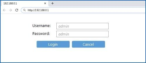 192.168.0.1 router default username password