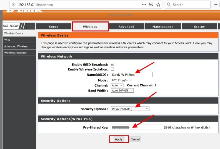 Change Wifi Password On Dlink Router